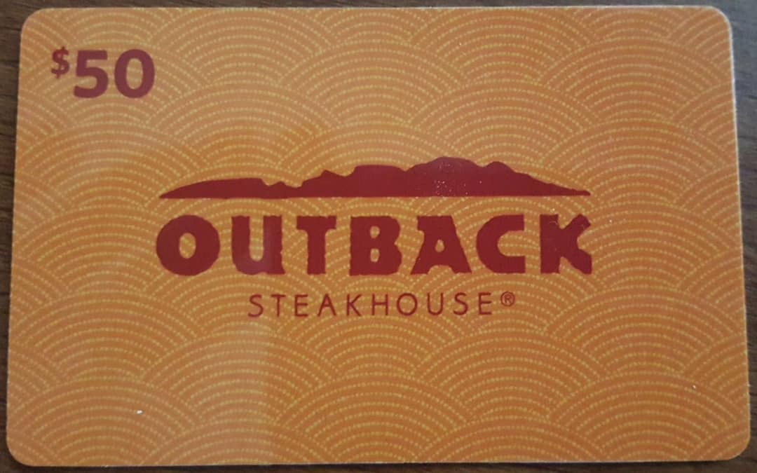 $50 Outback Gift Card Front View