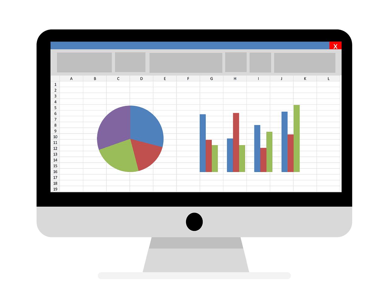 Spreadsheet on Monitor Image
