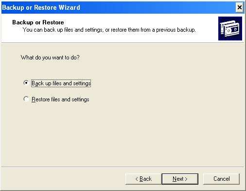 02 Backup or Restore
