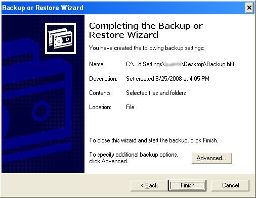 06 Verify Backup Settings