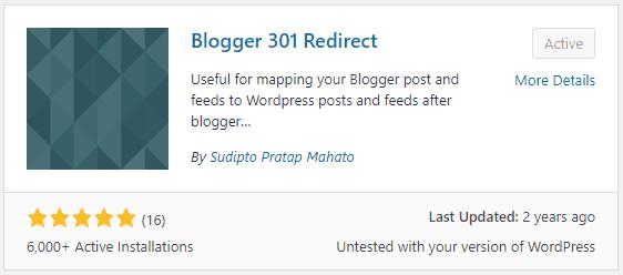 Blogger 301 Redirect Plugin