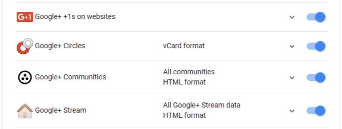 Download Google+ Data from Google Takeout