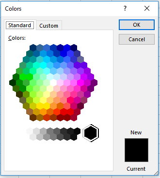 Excel More Colors