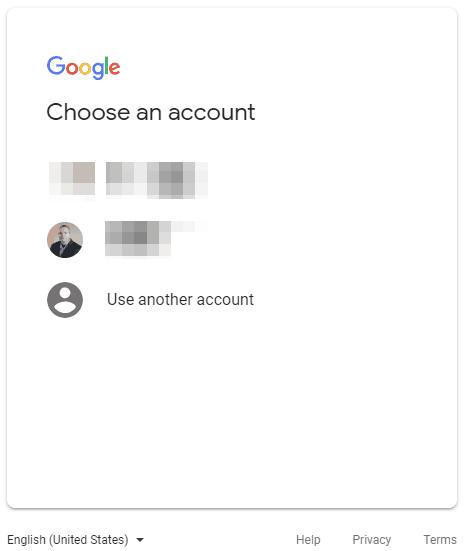 Google Domains Choose Account