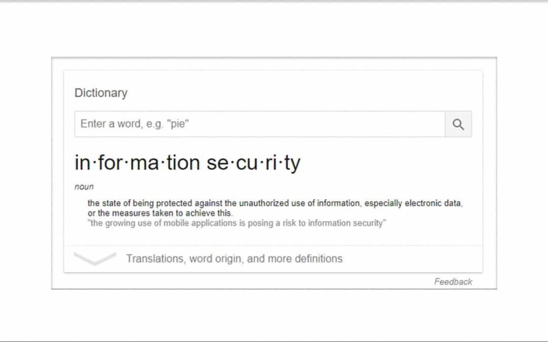 Security Introduction: Security Acronyms