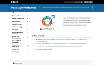 Intro to NIST Cybersecurity Framework (CSF)