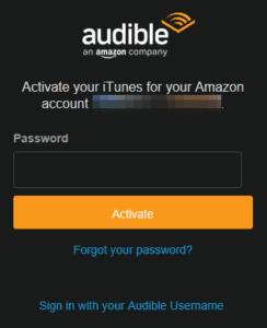 Password Form Audible Windows 10